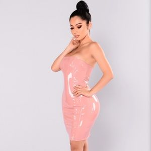 King Kourt Latex Dress in Mauve Fashion Nova